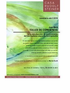 Conferencia y Seminario de introducción a la Antroposofía