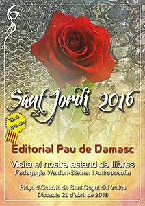 Estand de llibres de pedagogia Waldorf i antroposofia a la Fira de Sant Jordi 2016