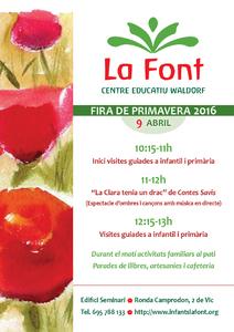 Fira de Primavera a la Font. Waldorf Vic