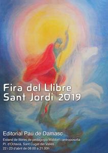 Para de llibres a la Diada de Sant Jordi 2019