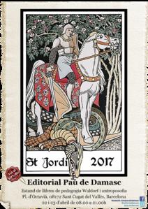Parada de libros en la diada de Sant Jordi 2017