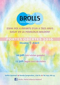 Portes obertes a Brolls, Petita infància Waldorf. La Font, Vic