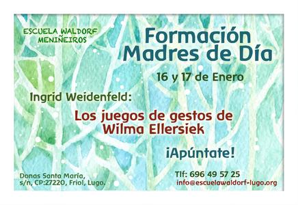 Seminario Los juegos de gestos de Wilma Ellersiek a cargo de Ingrid Weidenfeld. Escuela Waldorf Meniñeiros