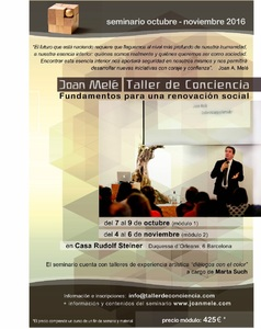 Taller de Conciencia en Barcelona a cargo de Joan Melé