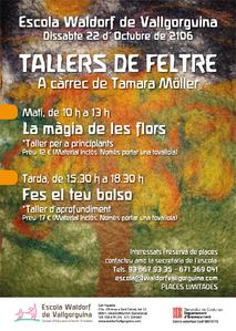 Tallers de feltre a càrrec de Tamara Möller. Escola Waldorf de Vallgorguina
